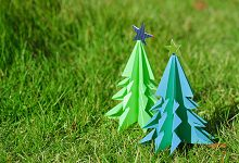<かんたんに作れるツリー> こども向け・色と造形ワークショップ
