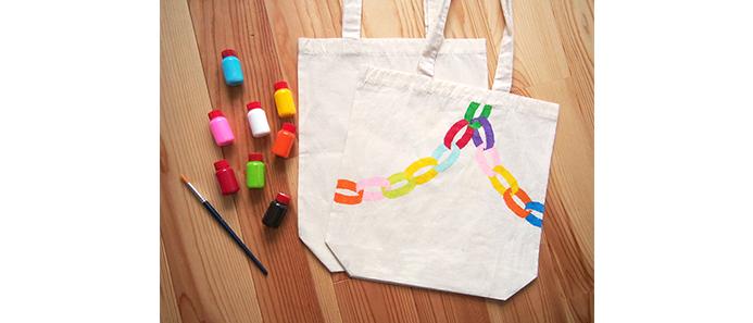 minneのアトリエ 神戸「OTO OTOさんの 輪っか飾り柄のトートバッグ作り」