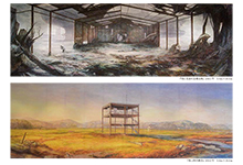 加川広重 巨大絵画が繋ぐ東北と神戸2014