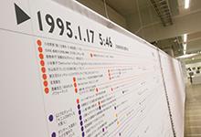 「阪神・淡路大震災+クリエイティブ タイムライン マッピング プロジェクト」年表展示