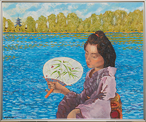 「湖畔」油絵 652×530mm_s