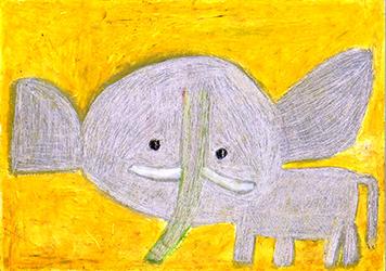 「象」クレヨン 424×348mm-(4)_s