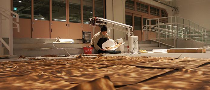 水川千春「地をあぶる」-KIITOアーティスト・イン・レジデンス2012成果発表展
