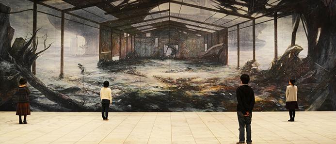 加川広重 巨大絵画「雪に包まれる被災地」が繋ぐ 東北と神戸プロジェクト